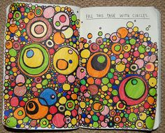 It's about me - Fill the page with circles, fill the circles with things you love. Getting the kids to think about themselves in a colorful and detailed way.