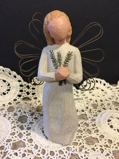 A personal favorite from my Etsy shop https://www.etsy.com/listing/510309382/willow-tree-angel-of-remembrance