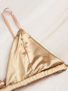 To find out about the Frill Trim Satin Lingerie Set at SHEIN, part of our latest Bras & Bralettes ready to shop online today! Jolie Lingerie, Satin Lingerie, Pretty Lingerie, Lingerie Set, Women Lingerie, Passion Lingerie, Diy Bralette, Bustier Bikini, Lace Silk