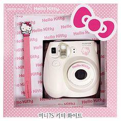 New Fujifilm instant instax mini polaroid camera Hello kitty Cartoon Character Polaroid Instax Mini, Fujifilm Instax Mini 7s, Instax Camera, Fuji Instax, Instax Mini 8, Instax Wide, Pink Camera, Toy Camera, Hello Kitty Cartoon