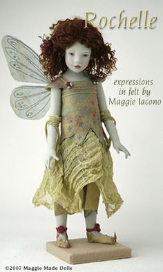 ♕ Rochelle  16.5 Inch Tall Felt Doll  Special Limited Edition : 1  Created in 2007  by Maggie Iacono ♥♥♥