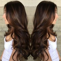 60 Chocolate Brown Hair Color Ideas for Brunettes Long Brown Hair with Subtle Balayage Brown Blonde Hair, Brown Hair With Highlights, Light Brown Hair, Brown Hair Colors, Brunette Hair, Brunette Ambition, Dark Brown, Big Brown, Ombre Brown