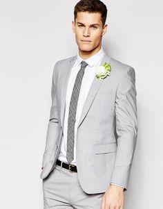 ASOS Super Skinny Suit in Gray | Male Fashion | Pinterest | ASOS ...
