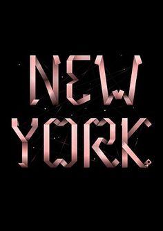 """""""New York"""" lettering"""