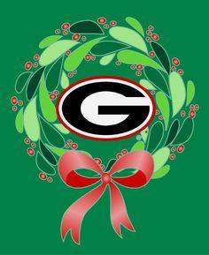 Merry Christmas from the Dawg Nation! Christmas Humor, Christmas Fun, Christmas Ornaments, Georgia Bulldogs Football, Georgia Girls, University Of Georgia, Merry Christmas And Happy New Year, Football Season, Southern Living