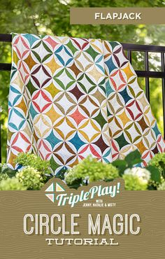 Discover Circle Magic in the latest Triple Play from Missouri Star Quilt Co! Using the new Circle Magic Template, Jenny, Natalie and Misty stitch up three unique new designs including the outstanding Flapjack quilt! Follow the link below to watch the quilting tutorial now! #MissouriStarQuiltCo #FlapjackQuilt #CircleMagicQuilt #TriplePlay #CircleMagic #QuiltingTutorial #HowToQuilt #QuiltPattern #Sewing #Quilt #LayerCakeQuilt #FabricCrafts #CircleAesthetic Quilting Tutorials, Quilting Projects, Quilting Ideas, Circle Quilt Patterns, Magic Tutorial, Layer Cake Quilts, Single Quilt, Rainbow Quilt, Fabric Stamping