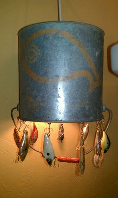 Adorable 42 Classy Diy Bucket Light Design Ideas For Camping Living That Awesome Cool Lighting, Lighting Design, Bucket Light, Lake Decor, Fish House, Vintage Fishing, Shabby Chic Furniture, Handmade Furniture, Light Up
