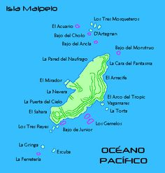 Map of Malpelo island