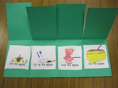 First Grade Fanatics: A Week of Apples - do this on friday when making apple pie Apple Activities, Sequencing Activities, 1st Grade Writing, First Grade Reading, Elementary Teacher, Elementary Schools, Sequencing Pictures, The Tiny Seed, Apple Unit