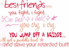 This is so me and my Best Friend Brook! Pin if it's you and ur BFF