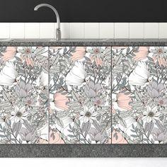 Αυτοκόλλητο για ντουλαπια κουζίνας Floral 1
