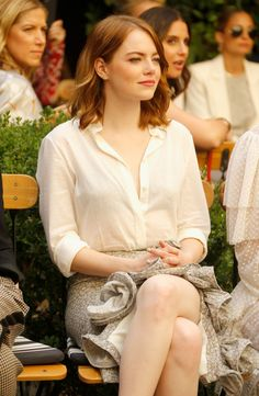 Emma Stone at the CFDA Vogue Fashion Fund Show and Tea, Beverly Hils October, Estilo Emma Stone, Ema Stone, Emma Stone Style, Actress Emma Stone, Vogue Fashion, Celebs, Celebrities, Hollywood Actresses, American Actress