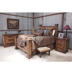 Calistoga Piece King Bedroom Package Weathered Charcoal King