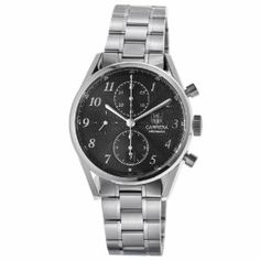 TAG Heuer Men's CAS2110.BA0730 Carrera Black Dial Chronograph Steel Watch TAG Heuer. $2856.00. Stainless steel bracelet. Black dial. Automatic movement. Water-resistant to 100 M (330 feet). Chronograph feature. Save 34%!