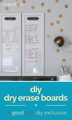 Dry Erase Boards from Old Frames (DIY Exclusive) | thegoodstuff