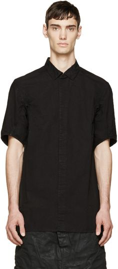 11 by Boris Bidjan Saberi Black Logo Print Shirt