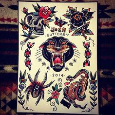 Instagram photo by @josh sutterby via ink361.com #tattoo #traditionaltattoo