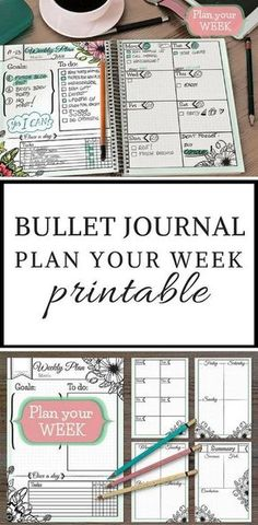 No time (or creative energy) to replicate all of the amazing bullet journal layouts you& been drooling over? The Bullet Journal printables are just what you need! Bullet Journal Page, Bullet Journal Hacks, Bullet Journal Printables, Bullet Journal Spread, Bullet Journals, Bullet Journal Ideas Templates, Journal Pages Printable, Weekly Planner Printable, Planner Pages