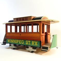 Handcrafted Winnipeg Street Railway 8 Streetcar Replica