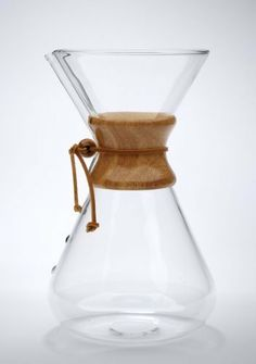 "Chemex Thirteen Cup Handblown Glass Coffeemaker - 13 Cup Coffee Maker by Chemex. $105.35. Height: 11 1/2"" Diameter: 6"".. 65 oz. (Makes 2 to 13 five ounce cups).. Uses Chemex filters; FC-100, FSU-100, FS-100 or FP-1.. Chemex high quality heavy filter paper sold separately.. The beautiful hourglass carafe that distinguishes Chemex® Coffeemaker combined with the quality and elegant craftsmanship of hand blown glass.. Known as a pristine coffeemaker, Chemex employs all of the chemi..."