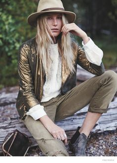 Dree Hemingway Stars in Free People's October 2014 Catalogue