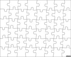 16 piece Jigsaw Template. Could be used for our Integer Puzzle ...