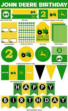 John Deere Birthday Party Printables - Mini Package. $10.00, via Etsy.