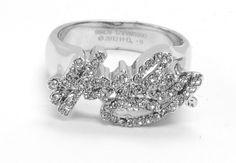 harley  davisdon ladies rings | Harley-Davidson® Ring - Rhinestone Harley® Ring. Solid brass plating ...