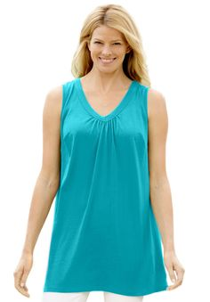 Top, Perfect tunic, sleeveless | Plus Size Best of Summer Sale | Woman Within