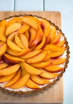 Nectarine Tart in a Ginger Biscuit Crust