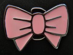 Pink Cool Metal Bow Tie Belt Buckles