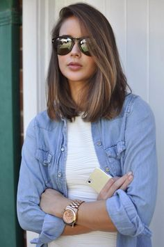 Long Bob with Subtle Highlights.