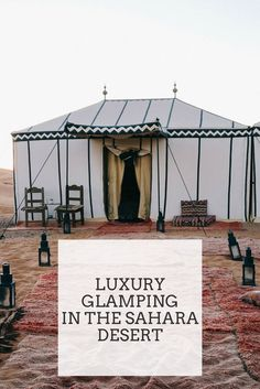 Luxury Glamping Adventure in the Sahara Desert, Morocco Luxus-Glamping-Abenteuer in der Sahara-Wüste, Marokko Visit Morocco, Morocco Travel, Africa Travel, Marrakech Travel, Marrakech Morocco, Vietnam Travel, Casablanca, Budapest, Cabana