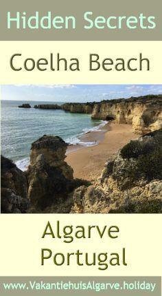 In het midden van de 180 km lange kust van de Algarve in Portugal ligt het prachtige strand van Coelha verscholen tussen de kliffen. Zomers is het een heerlijk strand om te zonnebaden en te zwemmen en in het naseizoen, zoals nu in begin november, kun je je helemaal uitleven met prachtige wandelingen over het strand en over de kliffen. Algarve, Dutch, Water, Travel, Outdoor, Europe, Lisbon, Gripe Water, Outdoors