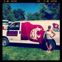 Cougar Cruiser at the boat races! #GoCougs