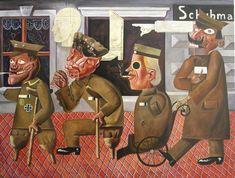 """Otto Dix. """"Lisiados de guerra"""" 1920. Óleo sobre lienzo. Originalmente expuesto en la Primera Feria Internacional del Dada, Berlín."""
