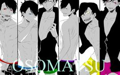 Image about art in Osomatsu - san by Chloe Manga Anime, Anime Art, Anime Siblings, Osomatsu San Doujinshi, Otaku, Fanart, Ichimatsu, Hot Anime Guys, Anime Boys