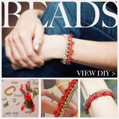 DIY CROCHET BEADED BRACELET