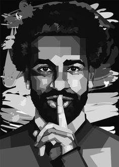Mohamed Salah poster prints by Ahmad slamet wahyudi Gamer Shirt, Mohamed Salah, Poster Prints, Posters, Portrait Illustration, Poster Making, Liverpool Fc, Trees To Plant, Legends