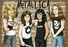 ✧*。٩(๑˙╰╯˙๑)و✧*。 Metallica Art, Beautiful Boys, Rock And Roll, Character Art, Husband, Fan Art, Bands, Pumpkin, Drawings
