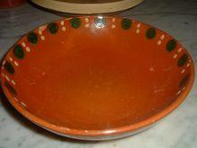 Vintage French Terracotta Savoie Pottery Bowl