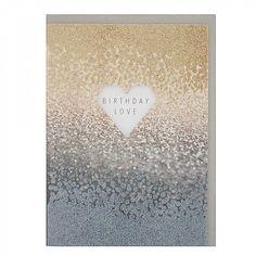 Glitter ombre birthday card