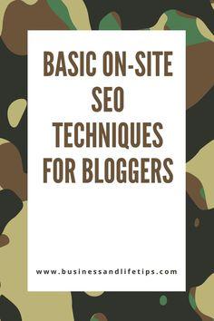 Basic on-site SEO