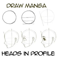 Step drawingmanga anime heads in profile How to Draw Anime & Manga Faces & Heads in Profile Side View