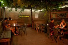 Romantic patios in Toronto are often secluded, picturesque, dark and quiet. These spots exist in alleyways, backyards and gardens, and usually feat. Funny Tinder Profiles, Tinder Humor, Back Patio, Day For Night, Canada Travel, Weekend Getaways, Places To Eat, Restaurant Bar, Toronto
