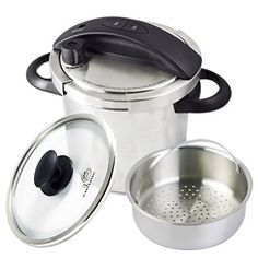 Culina One-Touch Pressure Cooker. Stovetop, 6 Qt. Stainless Steel With Steamer Basket *** See this great image  : Pressure Cookers