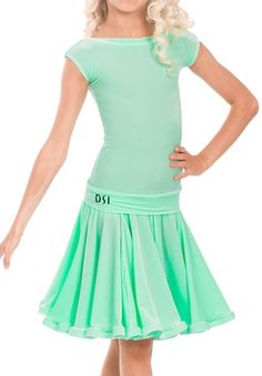 DSI Kayleigh Juvenile Ballroom Dress 1088J | Dancesport Fashion @ DanceShopper.com