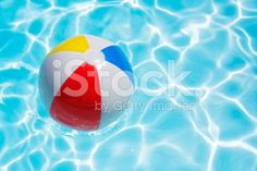 swimming pool beach ball background. Beach Ball Floating In Swimming Pool Abstract Concept For Summer. Beach Background
