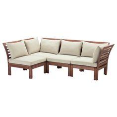 ÄPPLARÖ/HÅLLÖ Sofa combination - IKEA Ikea finally made that fancy looking outdoor furniture!