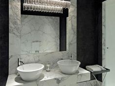 Marble Bathroom With Awesome Design Ideas Tags: marble tile bathroom marble bathroom accessories white marble bathroom marble bathroom countertops marble bathroom floor marble top bathroom vanity carrara marble bathroom White Marble Bathrooms, White Bathroom Decor, Bathroom Interior Design, Bathroom Black, Bathroom Designs, Bathroom Ideas, Master Bathroom, Glamorous Bathroom, Garden Bathroom